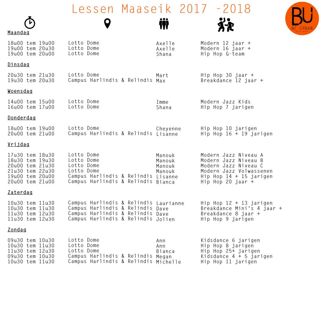Lessen Maaseik 2017 2018 februari